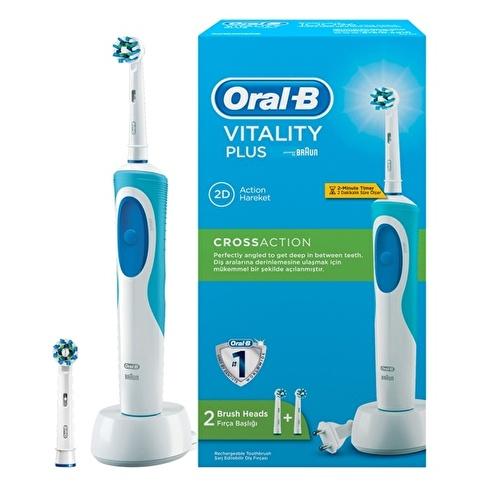 Oral-B Vitality Plus Şarj Edilebilir Diş Fırçası Cross Action Renkli
